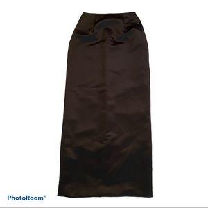 Scott McClintock Skirt Black Side Split Size 6 NEW